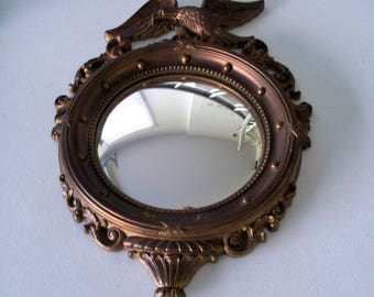 Syracuse Ornamental Co Syroco Wood Convex Porthole Mirror Eagle