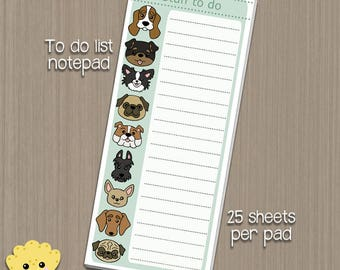 Dogs To Do List - 25 sheet Notepad