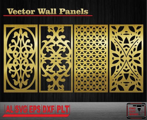 Decor wall panels. Interior partitions. Vector templates. Wall