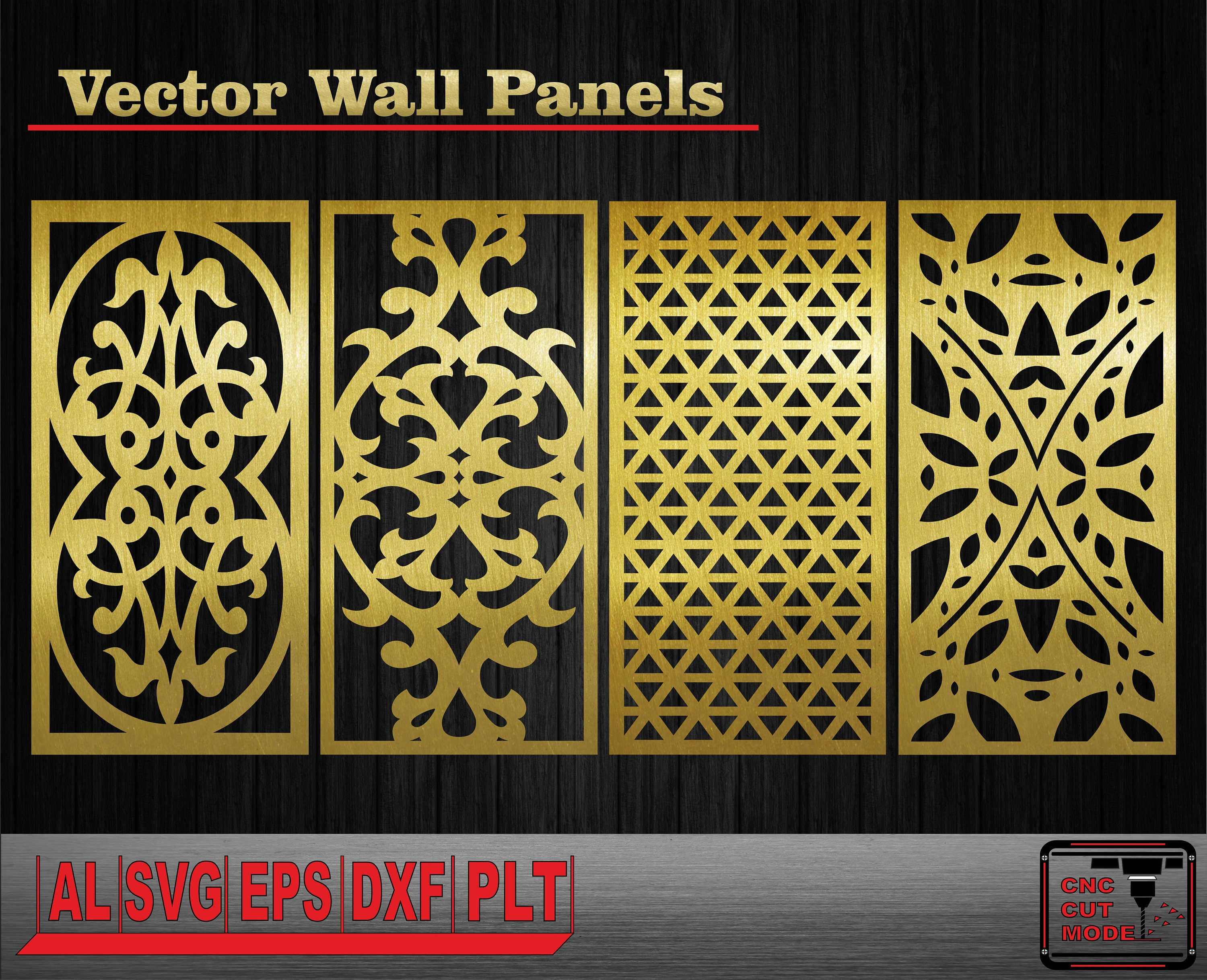 Decor wall panels. Interior partitions. Vector templates. Wall