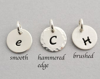 Add on Initial charms, Initial Charm, Personalized Initial, Sterling Silver Charm, Sterling Silver Initial (0120C)