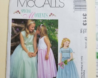 McCall's Childs Pattern Sizes 4-6  #3113