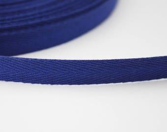Ribbon 10 mm Navy blue serge, 1 m