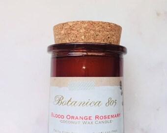 Blood Orange Rosemary Coconut Wax Candle | 6 oz