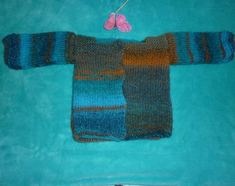 Jacket in shades of blue and Brown Baby 12/18 months
