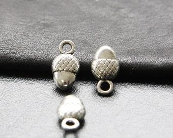 12pcs / Acorn / Nut / Oxidized Silver / Charms / 18x10mm  (XA960//A190)