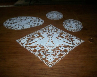 1800s antique figural lace applique 3 different designs are available, order each separate