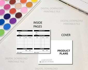 Printable Planner Insert | B6 | Product Plans - Entrepreneur Traveler's Notebook DIGITAL DOWNLOAD