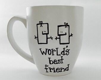 Hand Drawn World's Best Friend Mug (Customizable)