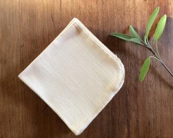 Organic Unpaper Towels, Organic Unbleached Cotton Birdseye Unpaper Towels, Reusable Unpaper Towels, Reusable Paper Towels, SET OF 12