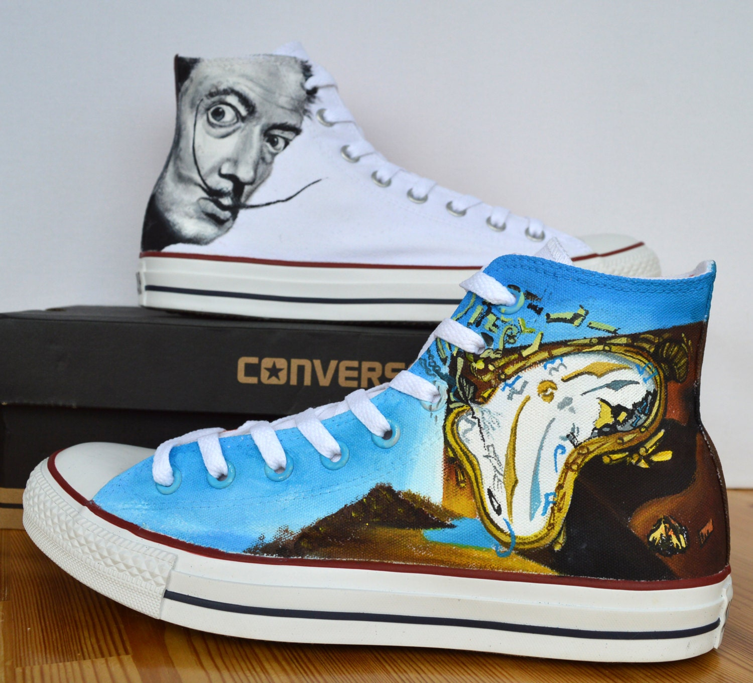 fetching how to design converse shoes at home.  zoom Adult Custom Hand Painted Converse Shoe Salvador Dali The