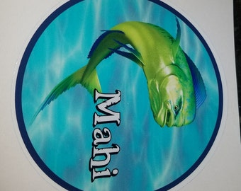 Mahi Decal, dorado, mahi mahi, fish sticker, dolphin fish