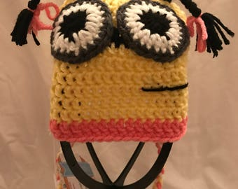 Two Eyed girl Minion Hat