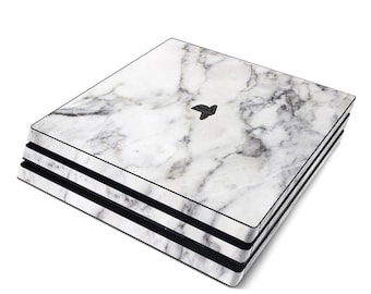 Sony PS4 Pro Skin Kit - White Marble - Sticker Decal Wrap