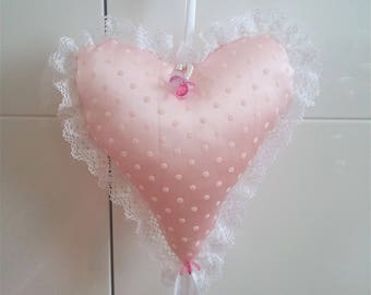 Pretty heart romantic pink lace and fragrant Lavender.
