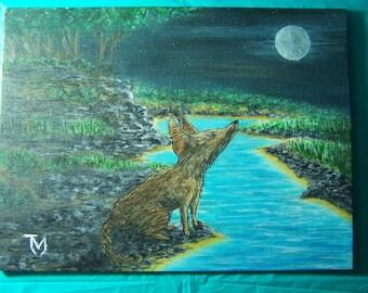 "9"" by 12"" Acrylic Painting (CalmNight)"