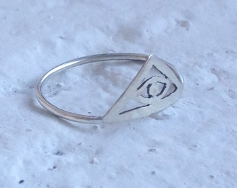 Order of the Ages Ring || All Seeing Eye || Sterling Silver