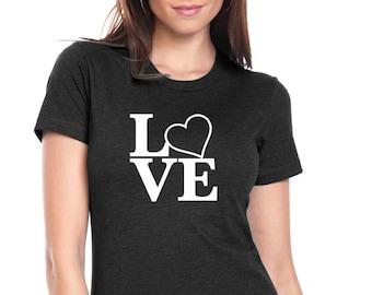 Love T-shirt for Women, T-shirt for her, Birthday Tshirt, Teenager Tshirt, Love Girl T-shirt, Love shirt,Love T-shirt, Heart T-shirt