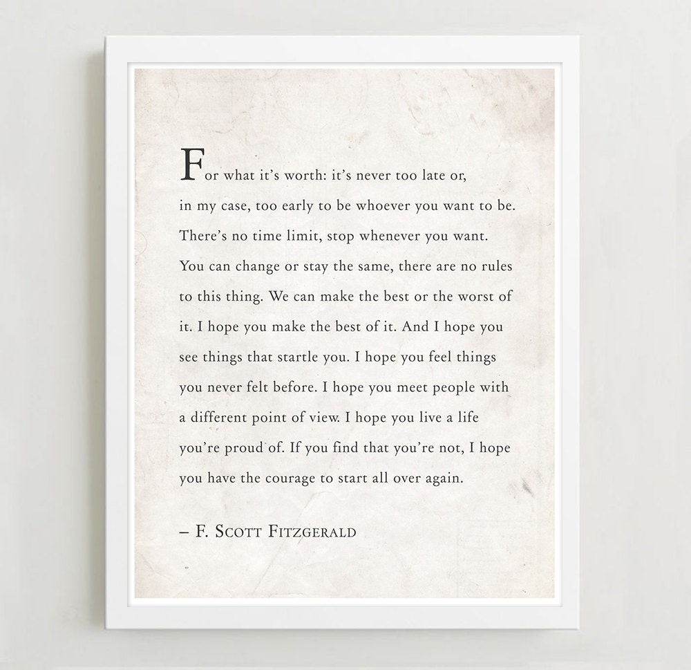 Love Quotes F Scott Fitzgerald Fscott Fitzgerald Quote For What It's Worth Quote