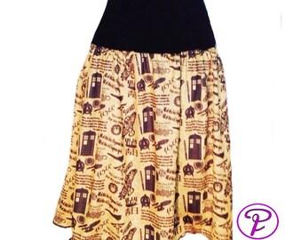 Doctor Who Skirt Geek skirt StarTrek Firefly skirt Plus Size Dr Who Sci Fi Skirt Battlestar skirt Tardis Skirt Mini skirt Geek Gifts for her