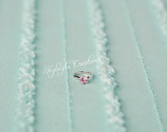 8-12 Month PINK baby ring, baby ring, baby jewelry, baby birthstone, infant ring