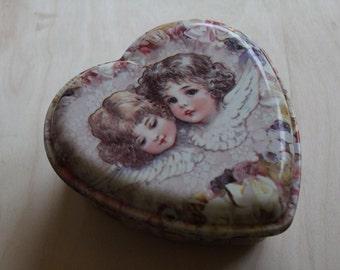 sweet vintage twin angels box