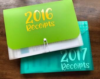 Receipt Decal - Receipt Organizer - Paperwork Label - Tax Organizer - Office Organization - File Organization Decal