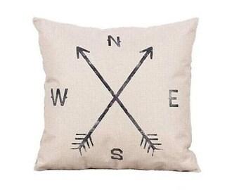Arrow Print Throw Pillow