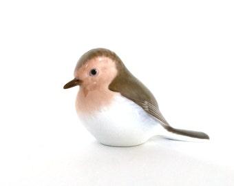 Bing and Grondahl Bird Figurine, Bing  Grondahl Robin Figurine, B & G Bird Figurine 2310