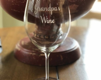 Create your own custom wine glass with the world's best lead-free crystal large bowl 27.9 ounce stemmed personalized engraved monogram gifts