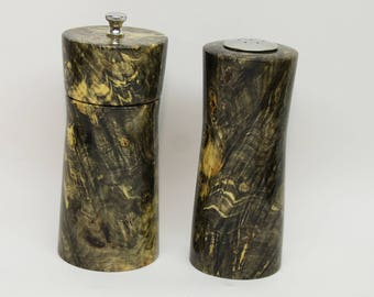 Pepper Grinder, Peppermill, Pepper Mill Gift Set made with Wonderful Buckeye Burl
