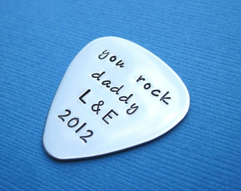 Personalized Father's Day Guitar Pick Personalized Stainless Steel Guitar Pick - I Pick You - Anniversary Wedding Birthday Gift