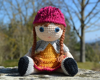 Doll, handmade doll, handmade crochet doll, amigurumi doll, handmade gift for a girl,handmade collectable doll,soft crochet toy,newborn gift