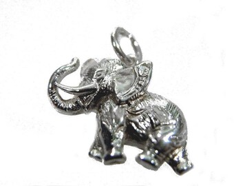 Elephant pendant 925 silver Glügsbringer cubic zirconia in the ear