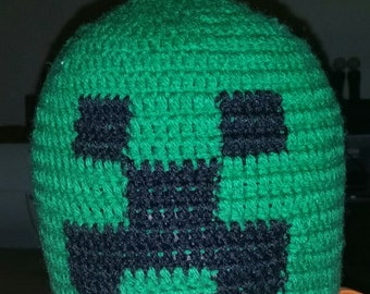 Minecraft Creeper Beanie Hat
