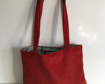 Red Cord Tote Bag