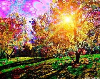Magnolia Sun - psychedelic landscape