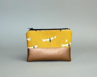 Mini Bag-Dachshund Kuper-Cosmetic bag-pencil-makeup bag-Make up bag-case-small bag-purse-vegan