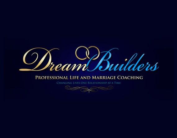 Professional logo design, custom gold and aqua blue logo, wedding logo design, coaching logo design, OOAK elegant lettering in any colors