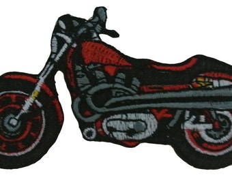 Embroidered Iron On Appliques patch Bike NEW