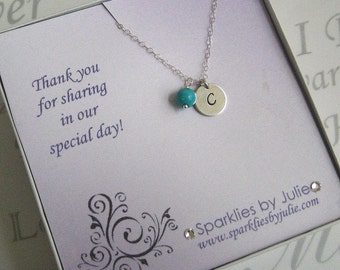"Thank You Bridesmaid Gift, ""Will You Be My"" Bridal Invitation with Necklace, Personalized Jewelry, Maid of Honor, Flower Girl, etc."