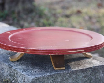 Colonial Red, Wooden,  Lazy Susan