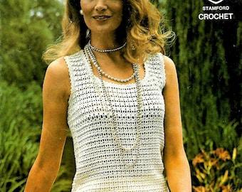 TWILLEYS 6111 Ladies Top Vintage Crochet Pattern PDF Instant Download
