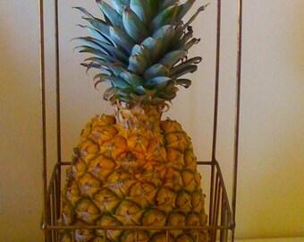 On Sale Vintage Basket/ Tall Planter/ Hanger Birdcage Basket/ Wire Domed Cage/ Wedding Basket Decor/ Kitchen Basket/ Storage Basket