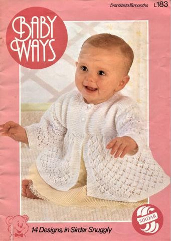 Baby Knitting Pattern Book Instant Download Pdf Sizes 12 To 18