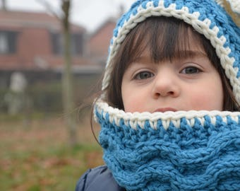 Baby hooded scarf