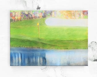 Unique Golf Gift - The Masters 16th Hole - Masters Golf - Augusta National Golf Club - Canvas Art Print - Golf Art - Golf Gift for Men  8x12