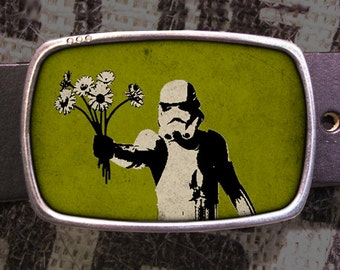 Star Wars Belt Buckle, Storm Trooper Bouquet Vintage Inspired, Geekery 611 Groomsmen Wedding