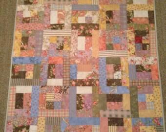 Lap size Patchwork Quilt  handmade