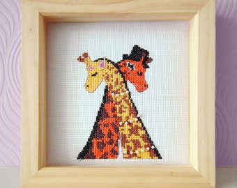 Giraffe Cross Stitch Pattern- Wedding Cross Stitch Pattern